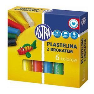 Plastelina Astra - 6 kol. z brokatem x1