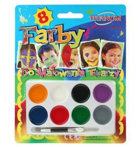 Farby do malowania twarzy Titanum 8kol x1 - 2833963189