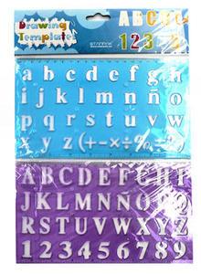 Szablon wielokrotnego użytku - cyfry, litery x1