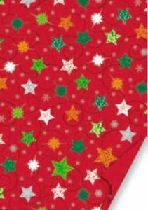 Karton A4 200g Heyda Christmas czerwony gwiazdy x1