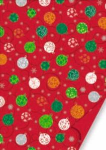 Karton A4 200g Heyda Christmas czerwony bombki x1