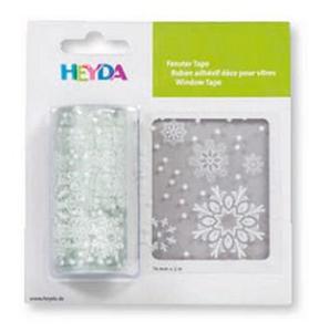 Naklejka na okno Heyda 76mm x 2mb - śnieżynki x1 - 2846498326