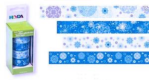 Taśmy papierowe 15mm 89 śnieżynki Heyda 5mb x4