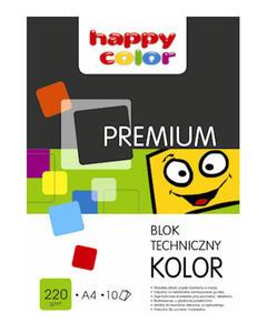 Blok techniczny A4 Happy Color 250g biały 10k x1