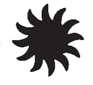 Dziurkacz ozdobny Heyda 2,5cm 06 słoneczko x1 - 2824964289