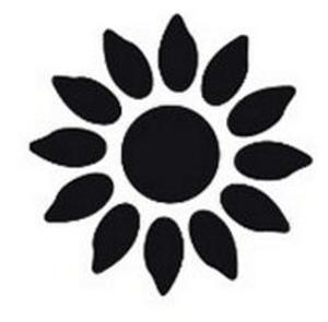 Dziurkacz ozdobny Heyda 2,5cm 30 słonecznik x1 - 2824964298