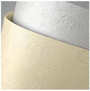 Karton ozdobny A4 220g Floral biały x20