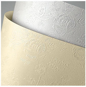 Karton ozdobny A4 220g Floral diamentowa biel x20