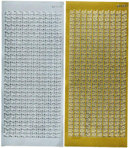 Sticker złoty 01839 - szlaczki x1