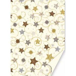 Karton B2 300g Heyda Christmas Gold Star x1 - 2846498332