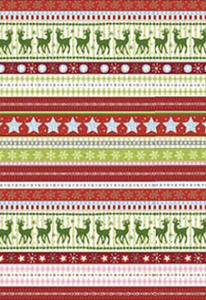 Karton B2 300g Heyda Christmas Red Borders x1