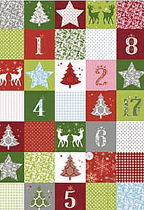 Karton B2 300g Heyda Christmas Red Patchwork x1 - 2824964375