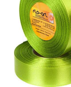 Wstążka 12mm satyna !184 wiosenna zielona 32mb x1 - 2837080919
