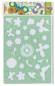 Szablon Koh-I-Noor - 9820007 kwiaty, łąka x1