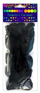 Pompony akrylowe czarne 24e x1
