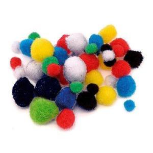Pompony Bluma 10mm mix kolorów x72