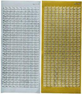 Sticker srebrny 01839 - szlaczki x1