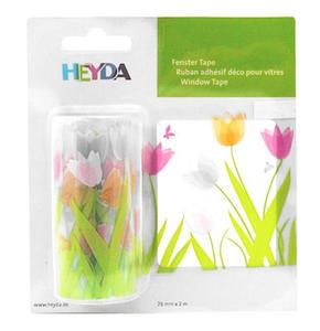 Naklejka na okno Heyda 76mm x 2mb - tulipany x1