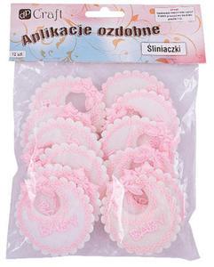 Aplikacje śliniaczki różowe 12e x1