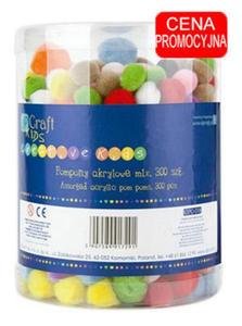 Pompony mix kolorów 300e x1