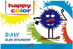 Blok rysunkowy A3 Happy Color 100g biały 20k x1