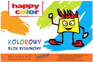 Blok rysunkowy A4 Happy Color 80g kolor 15k x1