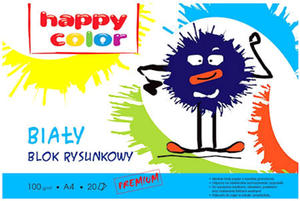 Blok rysunkowy A4 Happy Color 100g bia�y 20k x1