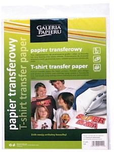 Papier transferowy A4 Ink Jet na jasne tkaniny x5
