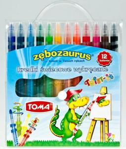 Kredki świecowe Toma Zębozaurus Twist It 12 kol x1
