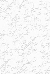 Karton B2 220g Heyda tłoczony Ornament biały x1