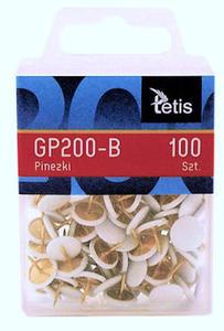 Pinezki Tetis białe x100