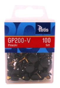 Pinezki Tetis czarne x100