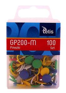 Pinezki Tetis kolorowe x100