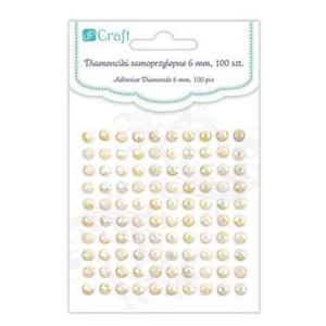 Diamenty samoprzylepne 6mm Ivory Opal x1