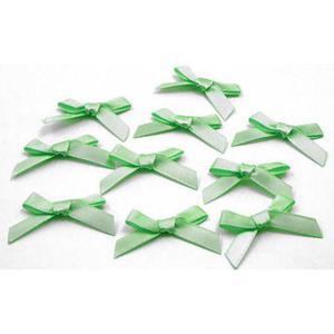 Kokardki atłasowe mini j. zielone x10