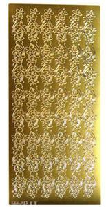 Sticker złoty 02495 - szlaczek kwiatowy x1