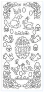 Sticker srebrny 02380 - motywy wielkanocne x1