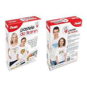 Zestaw Pentel - pastele do tkanin + koszulka
