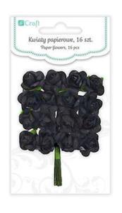 Róże papierowe 2cm Onyx x16