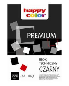 Blok techniczny A4 Happy Color 220g czarny 10k x1