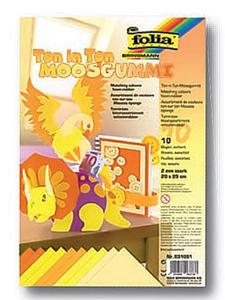 Kolorowa pianka Folia odcienie żółte x10