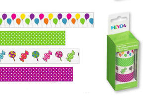 Taśmy papierowe 15mm 61 Baloniki Heyda 5mb x4