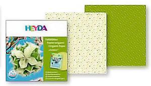 Papier do origami 15x15 Heyda wodoodpornyGreen x40