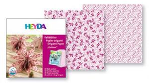 Papier do origami 15x15 Heyda wodoodporny red x40 - 2824966588