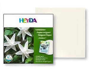 Papier do origami 15x15 Heyda wodoodpornywhite x20