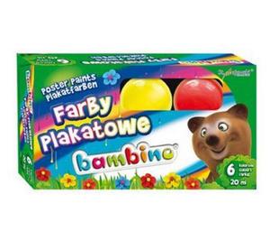 Farby plakatowe Bambino - 6 kolorów x1