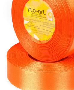 Wstążka 25mm atłas !025 pomarańcz 32mb x1