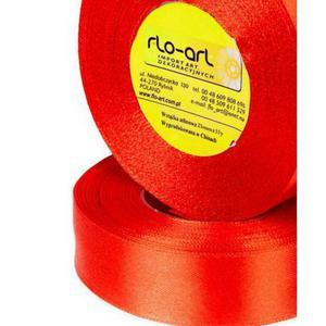 Wstążka 25mm atłas !026 czerwony 32mb x1