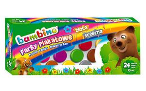 Farby plakatowe Bambino - 24 kolory x1