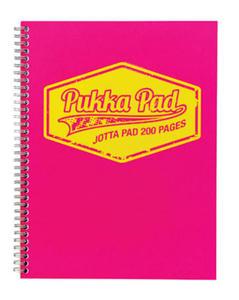 Kołonotatnik A5 Pukka Pad Jotta Neon różowy x1